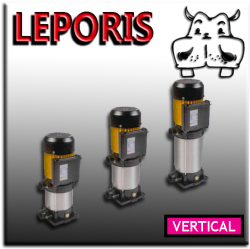 Pompele electrice multietajate verticale Leporis, se disting prin ridicate performanțe, funcționarea destul de silențioasă;