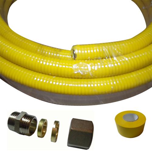 Tubo uni roll gas raccordi accessori e complementi per il gas - Tubo gas cucina a norma ...