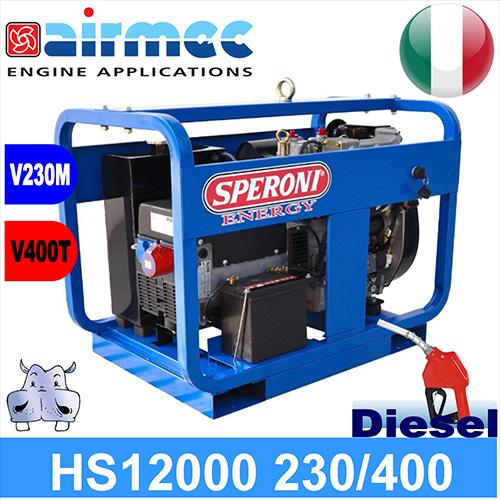 Generatore gruppo elettrogeno diesel hs12000 12kva nsm for Generatore di corrente diesel usato