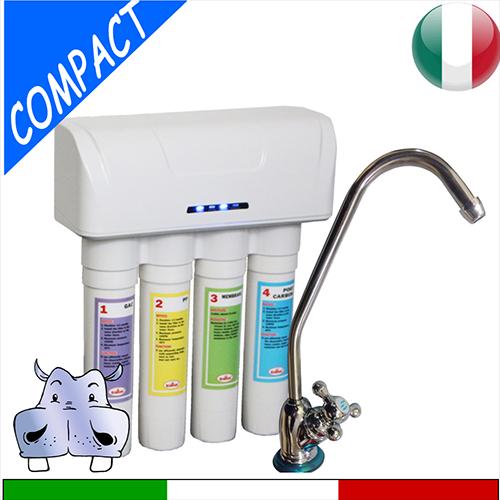 Depuratore acqua compact 75 da sottolavello ad osmosi per casa modello a 4 stadi lcd a bordo - Depuratore acqua casa prezzo ...