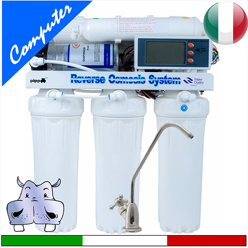 Depuratore acqua 75GPD da sottolavello ad osmosi per casa modello a 5 stadi microcomputer LCD a ...