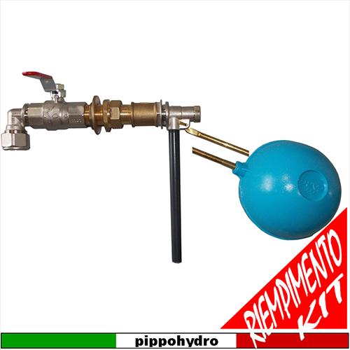 Schema Elettrico Galleggiante Serbatoio : Pippohydro kit gruppo di riempimento completo
