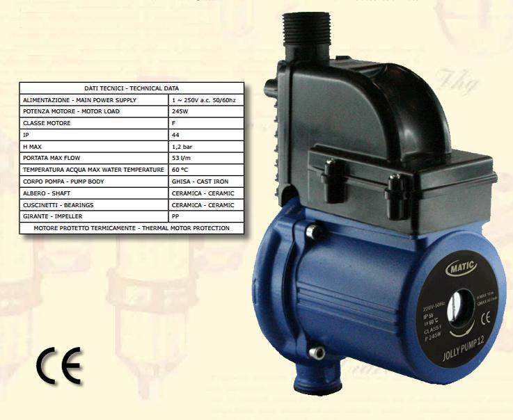 Matic Elettropompa Elettronica Automatica Jolly Pump 12 Elettropompe