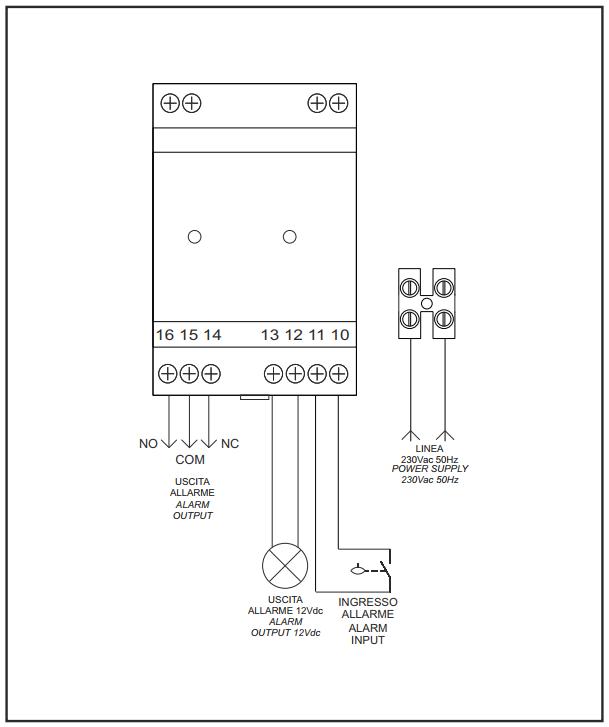 Schema Collegamento Batteria Tampone : Allarme acustico luminoso sirena e lampeggiante in bassa