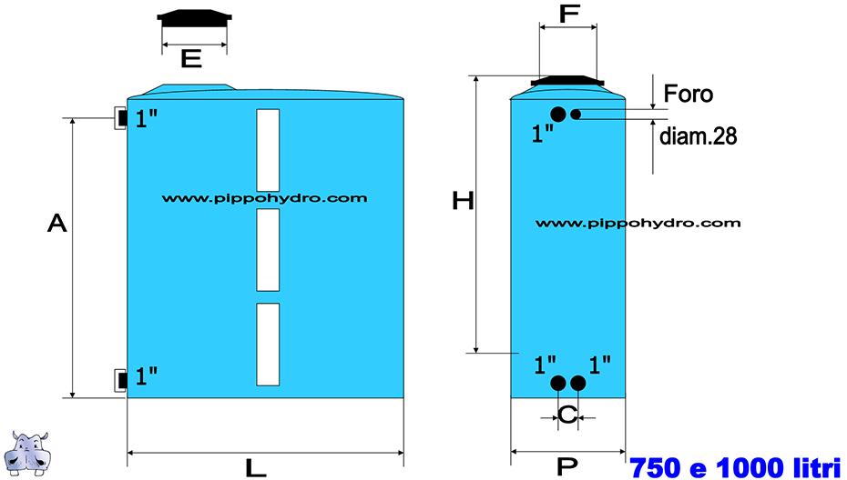 Serbatoi salvaspazio in polietilene per acqua potabile for Serbatoio di acqua di rame in vendita