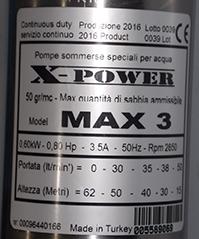 Schema Elettrico Pompa Sommersa Pozzo : X power pompa sommersa a ingombro ridotto max 3 completa di 30